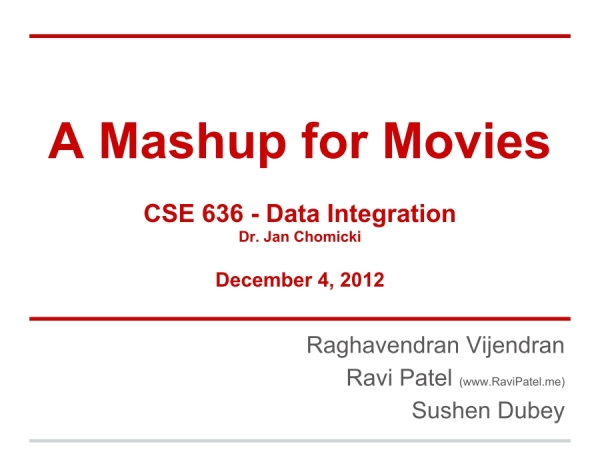 Screenshot of Presentation on Mashup for Movies